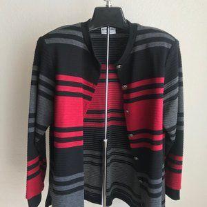 Cardigan or Top Red Black Gray Medium M 12